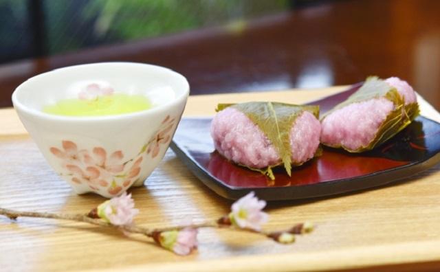 関西風の桜餅